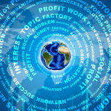 Earth and business words Stock Image