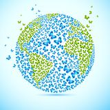 Earth with Butterfly Royalty Free Stock Photography