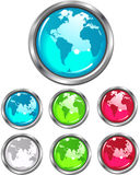 Earth Buttons Royalty Free Stock Images