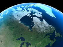 Earth - Canada & Greenland. Canada and Greenland as seen from space vector illustration
