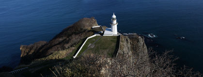 The earth cape in Hokkaido. The earth cape is a famous attraction in Muroran of Hokkaido royalty free stock photo