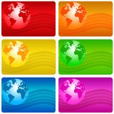 Earth cards Royalty Free Stock Photography