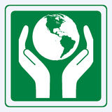 Earth care sign Stock Photo