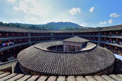 Earth Castle Circle Structure As Feature, South Of China Stock Image