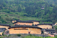 Featured Chinese historical residence, Earth Castle. The Earth Castle of Hakka in Fujian, South of China whcih has over one thousand years history. Originally Royalty Free Stock Photos
