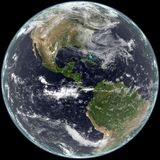 Earth center on North and South America. Royalty Free Stock Photos