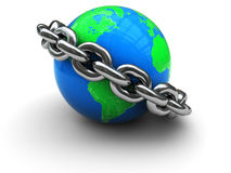 Earth with chain Stock Photography