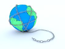 The Earth in chains Stock Photos