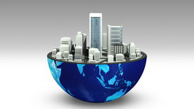 Earth changes numerous real estate building, real estate business sign. (included alpha) vector illustration