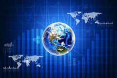 Earth with charts Stock Image