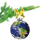Earth christmas ball Stock Images