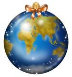 Earth Christmas ball Royalty Free Stock Photo