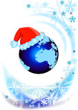 Earth on Christmas time Royalty Free Stock Photos