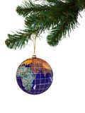 Earth and christmas tree Royalty Free Stock Photography
