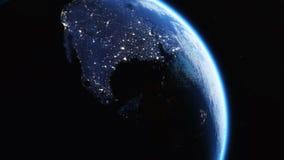 Earth city light Royalty Free Stock Photo