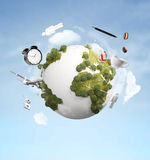 Earth with city Stock Photography