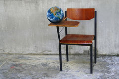 The earth on class room desk ,including elements furnished by NA Royalty Free Stock Images