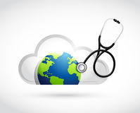 Earth and cloud medical concept illustration Stock Photo