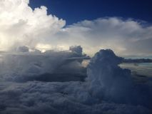 Earth cloud top view Royalty Free Stock Photos
