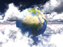 Earth and clouds Royalty Free Stock Photo