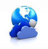 Earth with clouds Stock Photo
