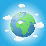 Earth and clouds Royalty Free Stock Images
