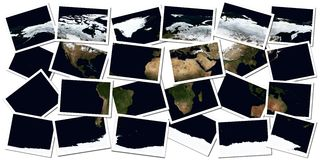Earth Collage Stock Photos