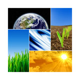 Earth collage - Earth Texture by NASA.gov Royalty Free Stock Photography