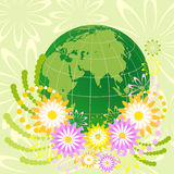 Earth in  color flowers Royalty Free Stock Photography