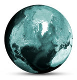 Earth colored map Royalty Free Stock Images