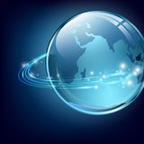 Earth with communication digital fibers Stock Images