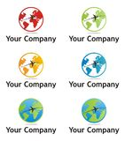 Earth company logo. In multiple colors Stock Photography