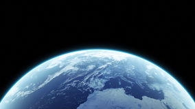 Earth. Computer Generated Planet. Realistic Earth Royalty Free Stock Photos