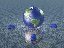 Earth with computer mice Stock Photo