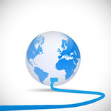 Earth Connection Illustration Royalty Free Stock Image