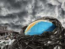 Earth contamination Royalty Free Stock Image