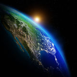 Earth continents. Elements of this image furnished by NASA royalty free stock photography