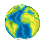 Earth with continents and oceans. Illustration on white background vector illustration