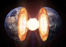 Earth core structure Stock Images