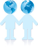 Earth couple Stock Photography