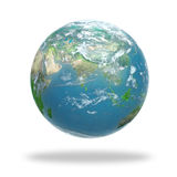 Earth covered with clouds Stock Images