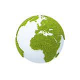 Earth covered with grass Stock Photography