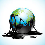 Earth covered with Oil Royalty Free Stock Image