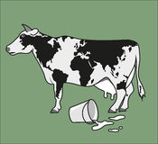 Earth cow royalty free illustration