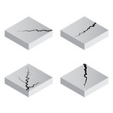 Earth Crack vector, rip through white background Stock Image