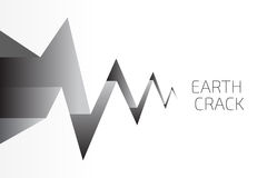 Earth Crack Vector. Vector illustration Royalty Free Stock Photos