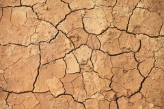 Earth cracked closed-up because of drought Stock Photo