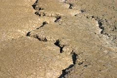 Earth cracks stock images