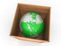 Earth in crate Royalty Free Stock Photo