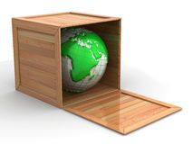 Earth in crate Royalty Free Stock Photography